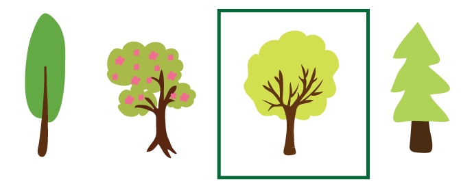vector illustrations of trees